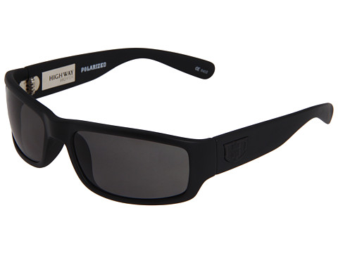 Hoven Vision - Highway Polarized (Black Black/Grey Polarized Lens) Sport Sunglasses