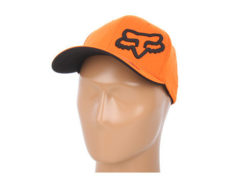 Fox - Signature Flexfit Hat (Orange) Baseball Caps