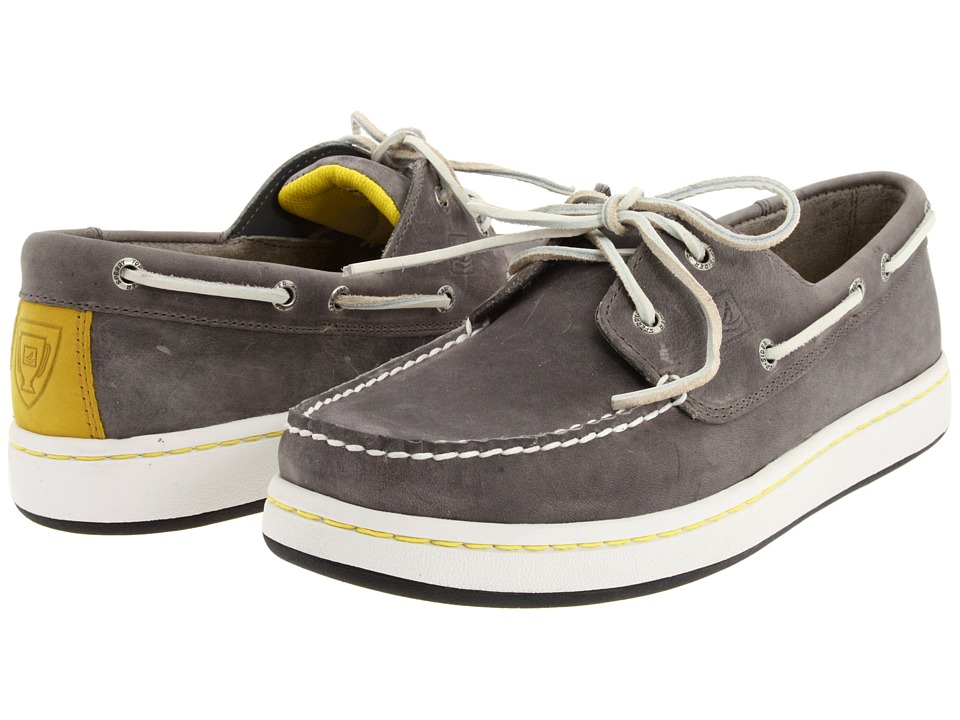 Sperry Top-Sider - Sperry Cup 2-Eye (Grey) Men's Slip on Shoes
