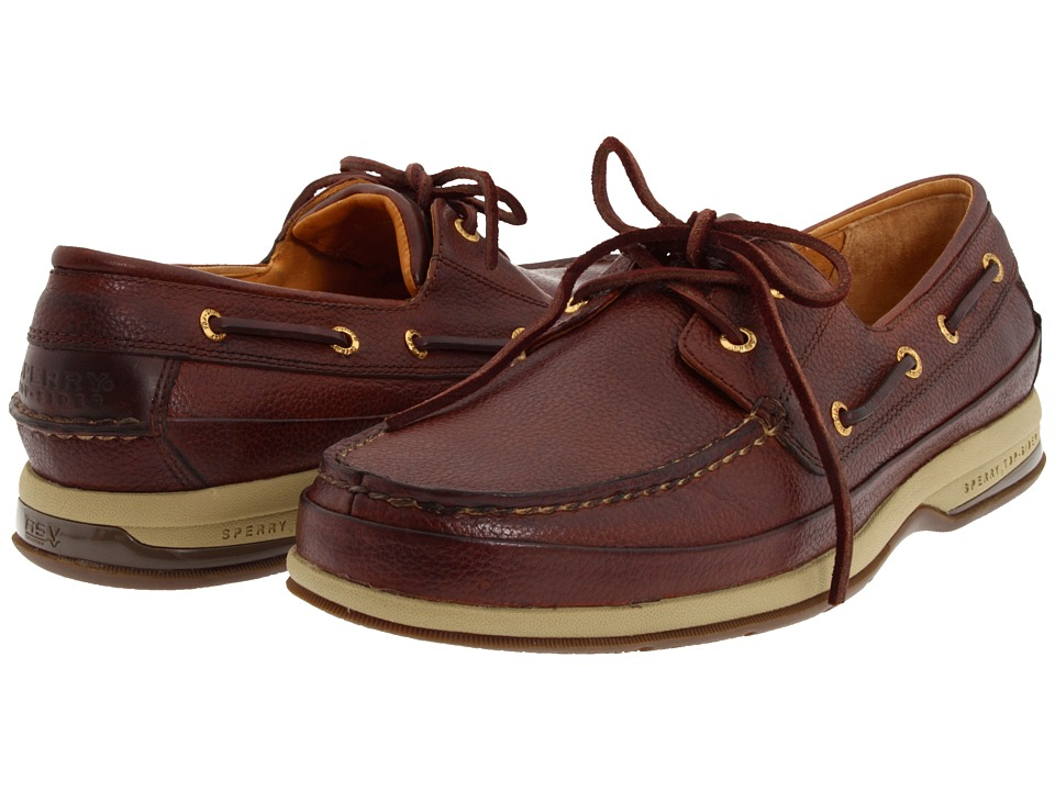 Sperry Top-Sider - Gold Boat w/ASV (Cognac) Men's Slip on Shoes