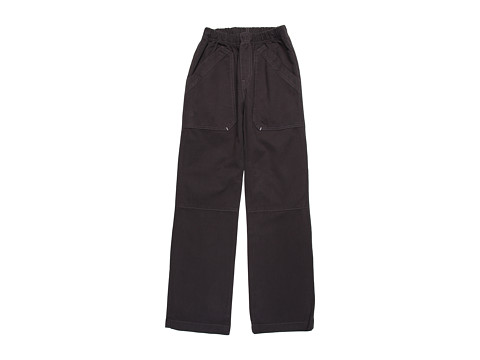 Charlie Rocket - Textured Twill Pull-On Pant (Little Kids/Big Kids) (Ebony) Boy