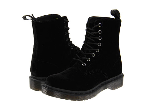 Dr. Martens - Page (Black Ze You Velvet) Women's Boots