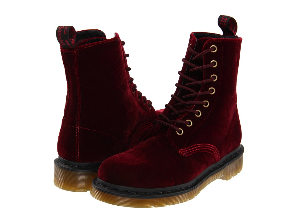 Dr. Martens - Page (CHERRY RED ZE YOU VELVET) Women