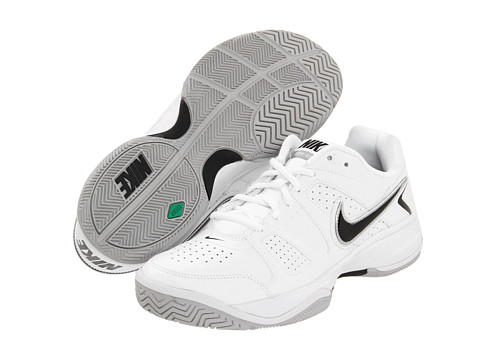 Nike - City Court VII (White/Neutral Grey/Metallic Silver/Black) Men's Tennis Shoes