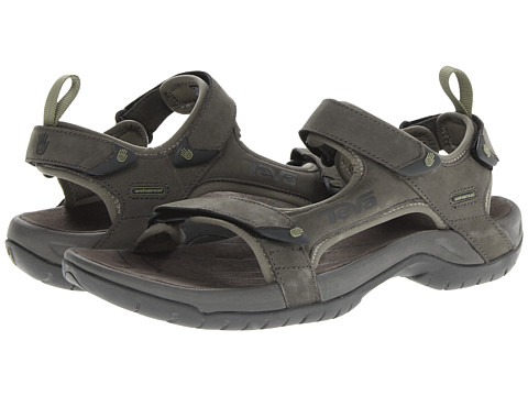 Teva - Tanza Leather (Walnut) Men's Sandals
