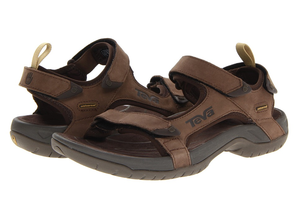 Teva - Tanza Leather (Brown) Men's Sandals