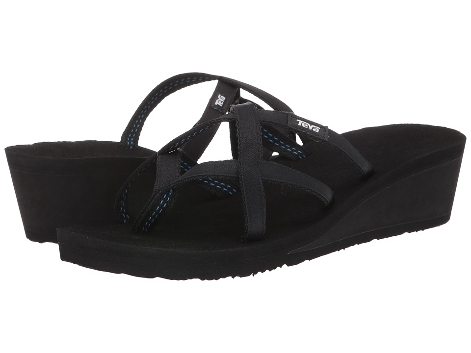 Teva - Mush Mandlyn Wedge Ola 2 (Black) Women's Wedge Shoes
