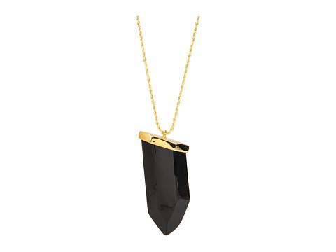 Kenneth Jay Lane - Resin Prism Pendant (Jet) Necklace