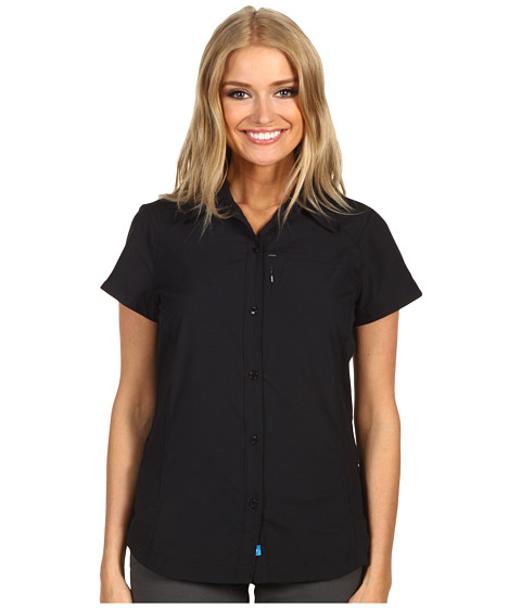 Columbia - Silver Ridge S/S Shirt (Black) Women's Short Sleeve Button Up