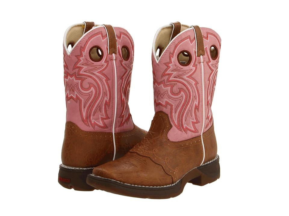 Durango Kids - BT387 (Big Kid) (Tan/Pink) Girls Shoes