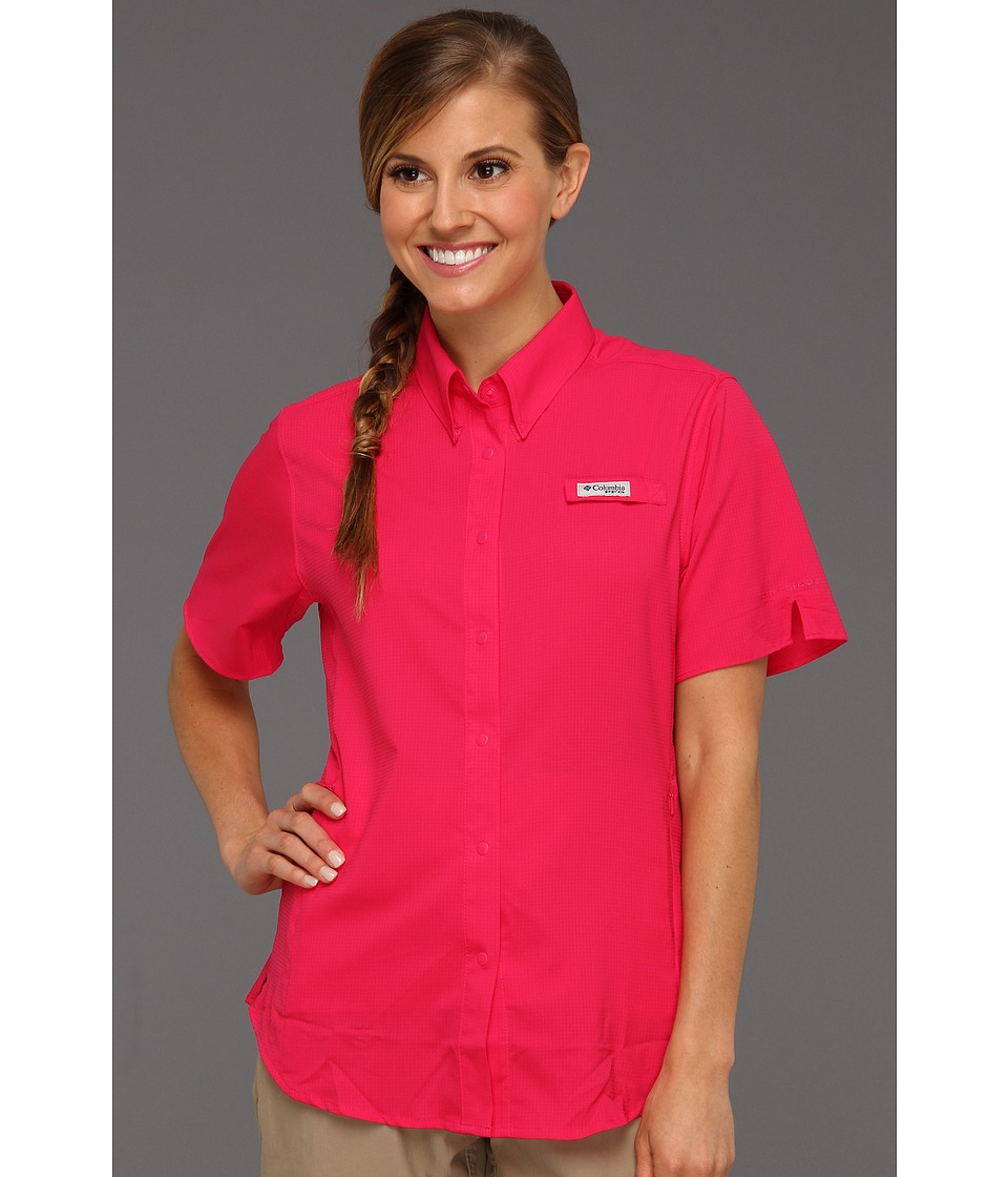 Columbia - Tamiami II S/S (Bright Rose) Women's Short Sleeve Button Up