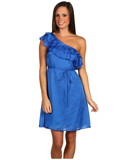Jessica Simpson - Ruffle Bloom Dress (Victoria Blue) Women