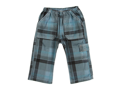 Charlie Rocket - Plaid Twill Pant (Infant) (Cloud) Boy