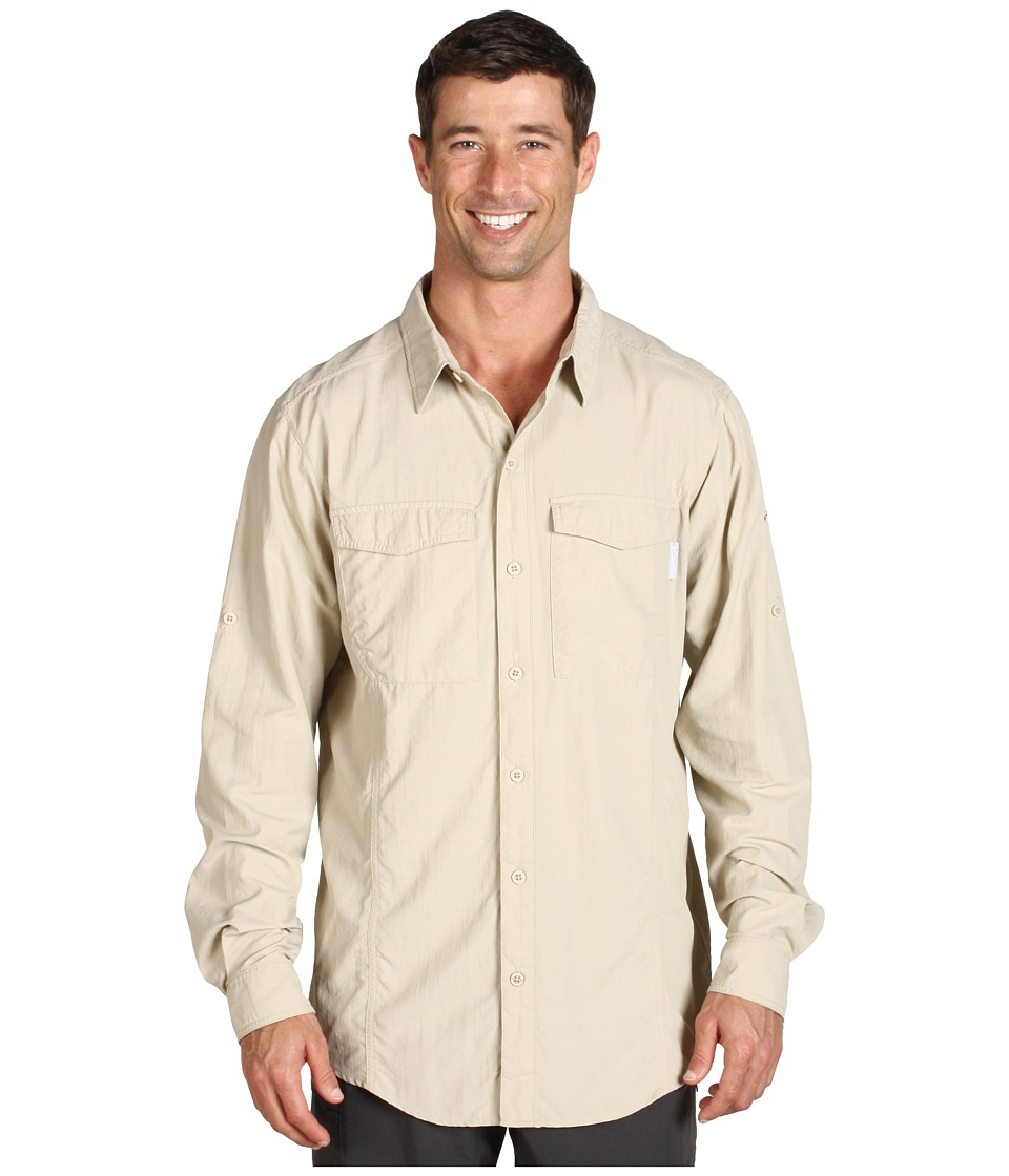 Columbia - Insect Blocker L/S Shirt (Fossil) Men's Long Sleeve Button Up