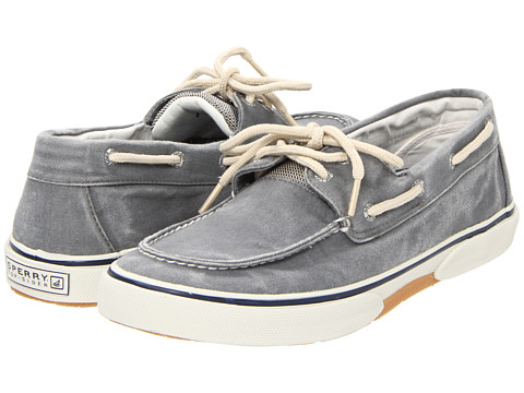 Sperry Top-Sider - Halyard 2-Eye (Salt Washed Grey) Men's Lace Up Moc Toe Shoes