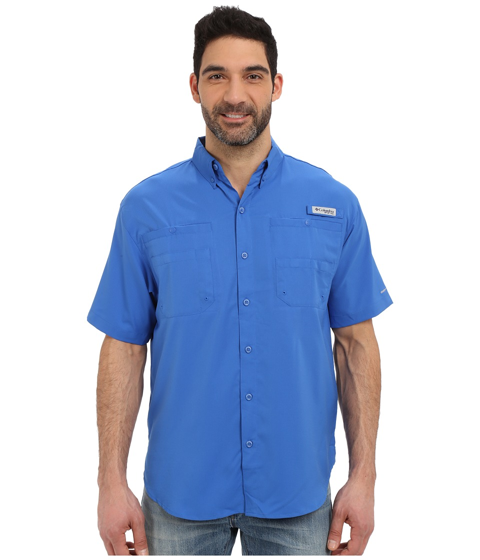 Columbia - Tamiami II S/S (Vivid Blue) Men's Short Sleeve Button Up
