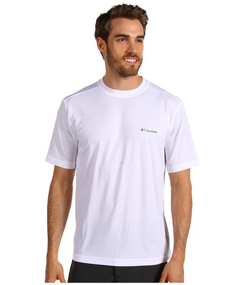 Columbia - Meeker Peak Short Sleeve Crew (White) Men's Short Sleeve Pullover