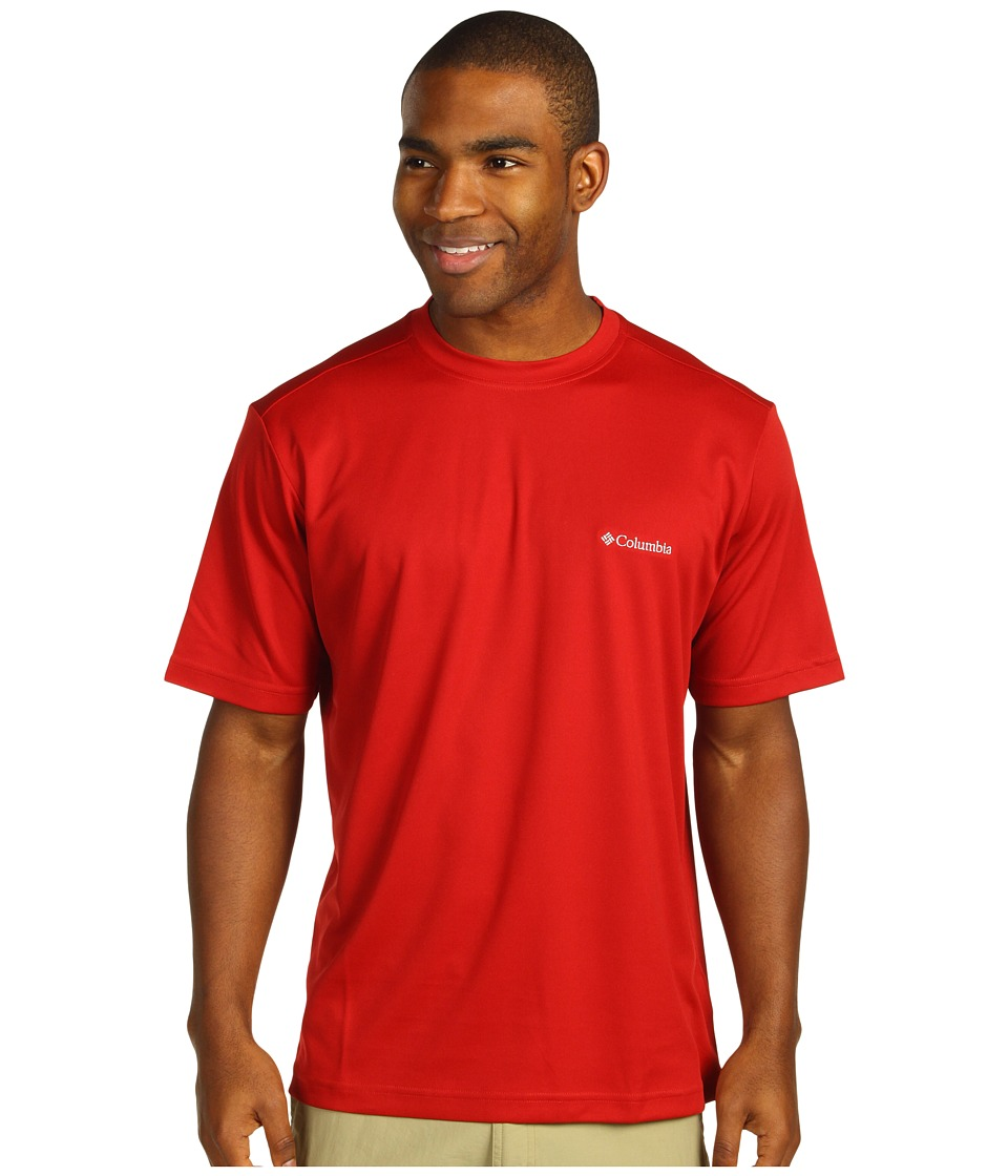 Columbia Meeker Peaktm Short Sleeve Crew (Red Velvet) Men