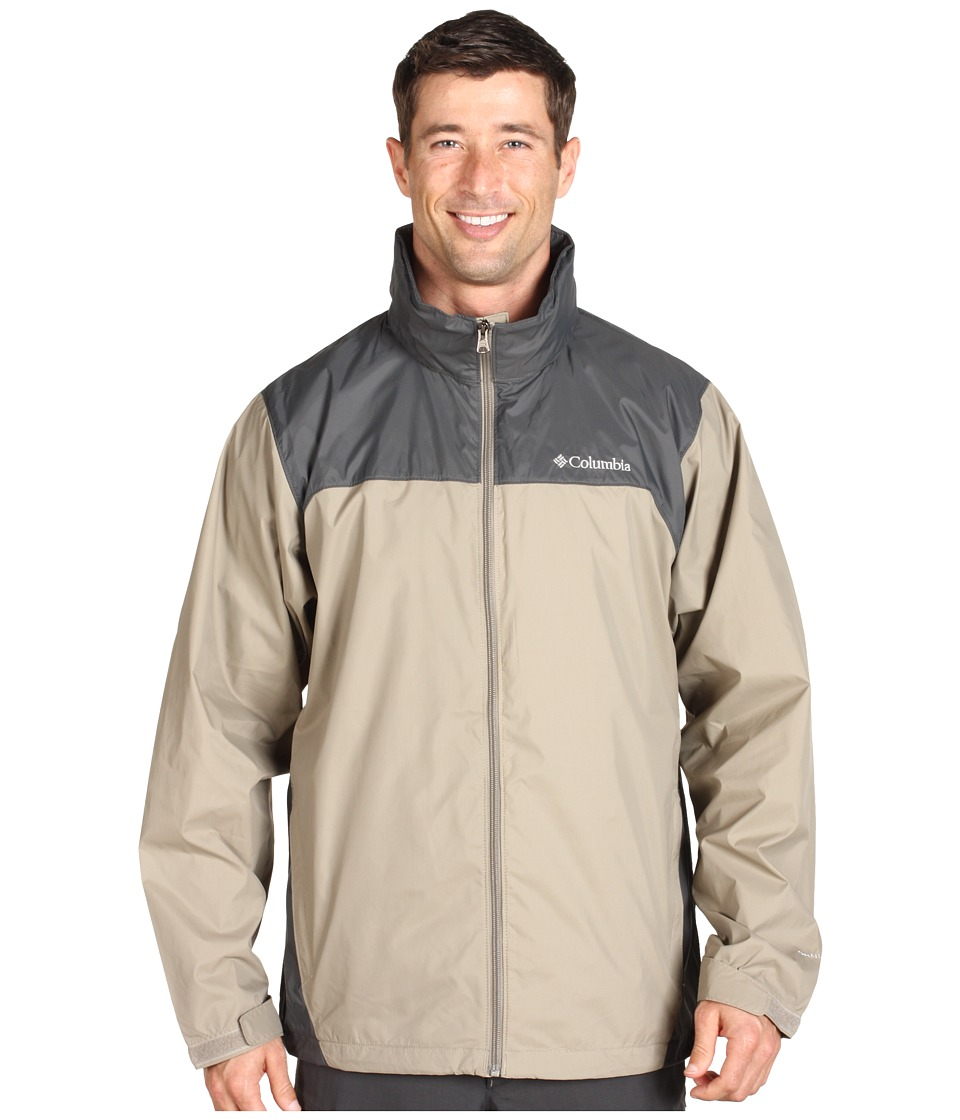 Columbia - Glennaker Lake Rain Jacket (Tusk/Grill) Men