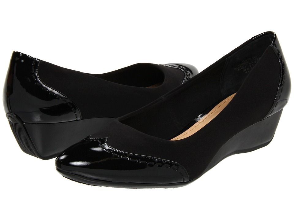 Circa Joan & David - Yolata (Black/Black Fabric) Women's Wedge Shoes