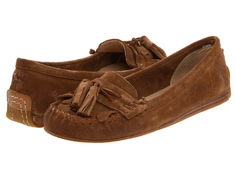 Shop Frye online and buy Frye Alex Tassel Moc Brown Shoes - Frye - Alex Tassel Moc (Brown) - Footwear: Don't forget to ask for all the trimmings. The Alex Tassel Moc by Frye has all the options, leaving nothing to spare. ; Plush suede upper material. ; Comfortable natural interior. ; Whip stitch and tassel details. ; Durable leather and rubber outsole offers excellent traction on many surface types. Measurements: ; Heel Height: 1 2 in ; Weight: 8 oz ; Product measurements were taken using size 7.5, width B - Medium. Please note that measurements may vary by size.