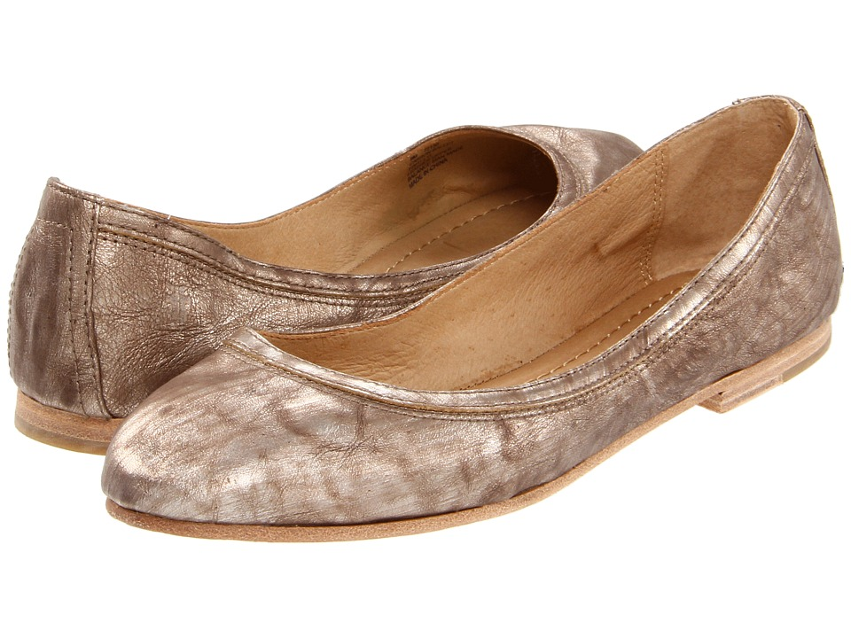 Frye - Carson Ballet (Bronze Metallic Leather) Women's Flat Shoes