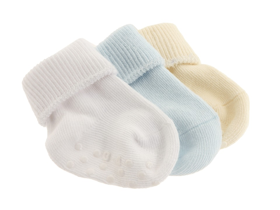 Jefferies Socks - Organic Cotton Turncuff 6-Pack (Infant) (White/Blue/Natural) Kids Shoes