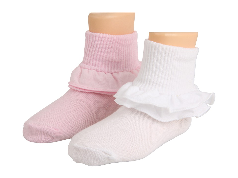 Jefferies Socks - Misty 6-Pack (Toddler/Little Kid/Big Kid) (White/White/White/Pink/Pink/Pink) Girls Shoes