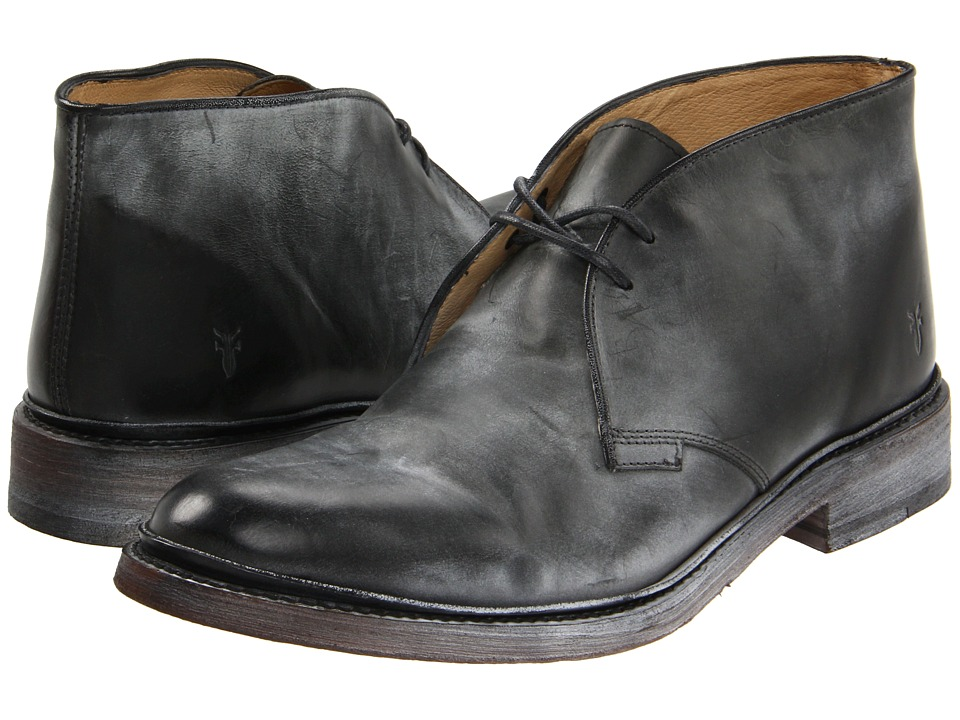 Frye - James Chukka (Black/Antique Pull Up) Men