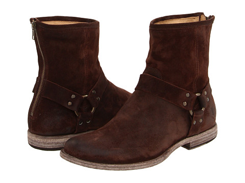 Frye - Phillip Harness (Dark Brown) Men's Pull-on Boots