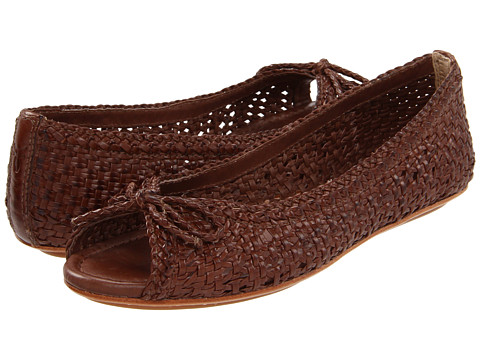 Frye - Malorie Woven Peep (Chocolate) Women's Shoes
