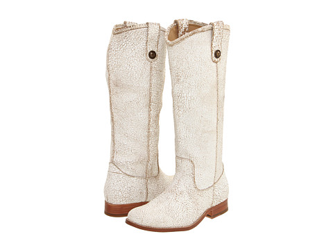 Frye - Melissa Button (White (Cracked Leather)) Cowboy Boots