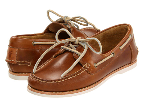 Frye - Quincy Boat Shoe (Camel Smooth Pull Up) Women