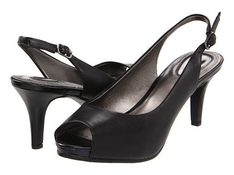 Trotters - Omega (Black) Women's Sling Back Shoes