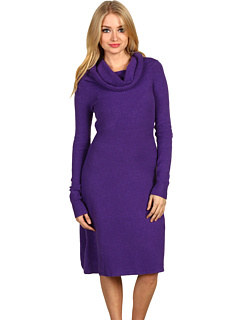SALE! $54.99 - Save $143 on BCBGMAXAZRIA Nellie Shawl Collar Sweater Dress (Passion Purple) Apparel - 72.23% OFF $198.00