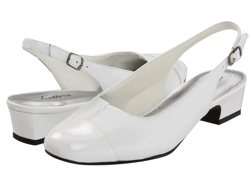 Trotters - Dea (White) Women's 1-2 inch heel Shoes