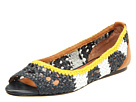 Juicy Couture - Prima (Regal Navy/White/Yellow Kid/Regal Navy Burnished Vachetta) - Footwear