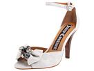 Juicy Couture - Deco Metallic Leather Heels (Silver Distressed Metallic Leather/Silver Grosgrain) - Footwear