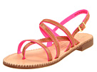 Juicy Couture - Ryan Sandal (Luggage Burnished Vachetta/Neon Pink Twill) Sandal