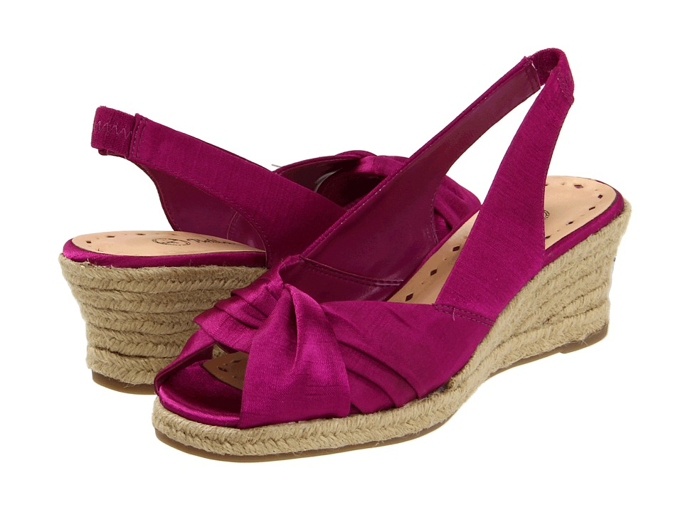 Bella-Vita - Sangria (Fuchsia Thai Silk) Women's Wedge Shoes