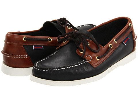 Sebago - Spinnaker (Black/Brown) Men's Lace Up Moc Toe Shoes