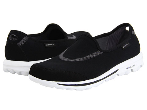 SKECHERS Performance - GOwalk (Black/White) Women