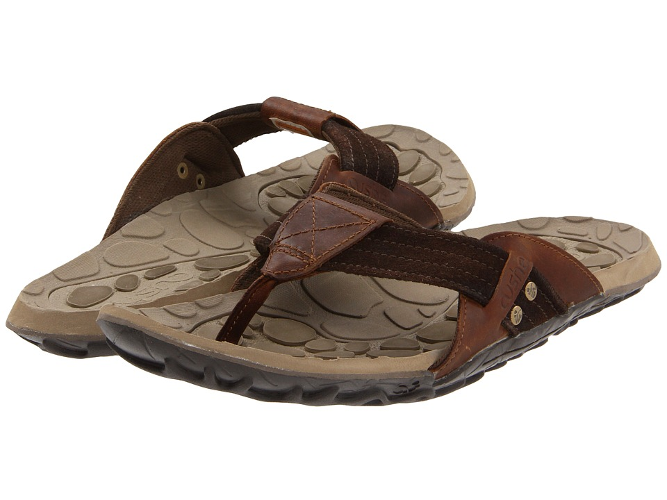 39f1974ce7dc Cushe Evo Web Leather Mens Sandals (Brown) on PopScreen