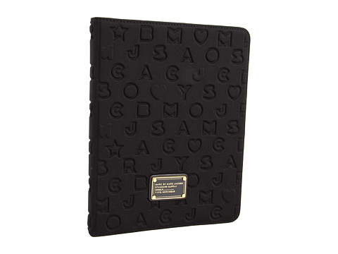 Marc by Marc Jacobs - Stardust Logo Neoprene iPad Book (Black) Computer Bags