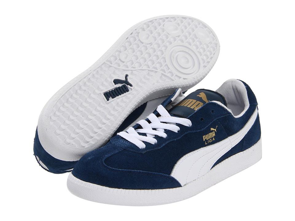 PUMA - Liga Suede Classic (Darm Denim/White) Classic Shoes