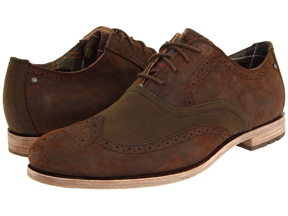 Rockport - Barbour Wing Tip (Raiz/Sage) Men's Lace Up Wing Tip Shoes
