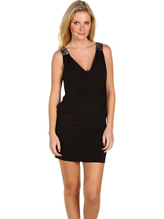 SALE! $89.99 - Save $205 on Laundry by Shelli Segal Dropped Waist Jersey Dress (Black) Apparel - 69.49% OFF $295.00