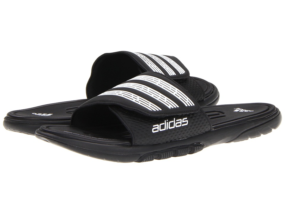 bfdeee23d0e5 ... UPC 885590047259 product image for adidas adilight SUPERCLOUD Slide  (Black White) Men s Shoes ...