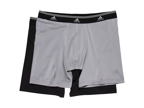 adidas - Sport Performance ClimaLite 2-Pack Boxer Brief (Aluminum 2/Black) Men