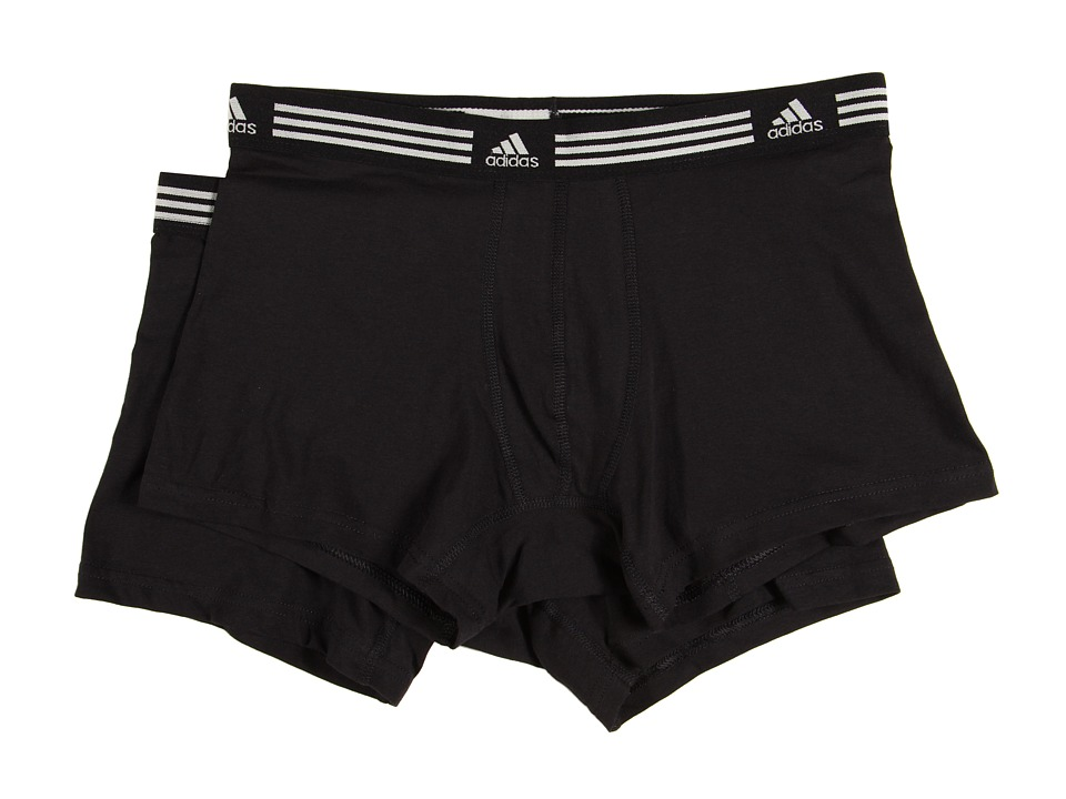 adidas - Athletic Stretch 2-Pack Trunk (Black/Black) Men's Underwear
